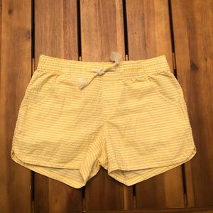 Girls Yellow Old Navy Striped Shorts- Large